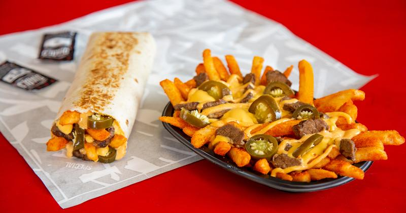 steak rattlesnake fries burrito