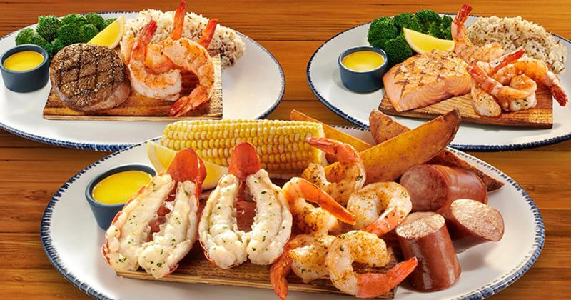 red lobster surf and turf plates