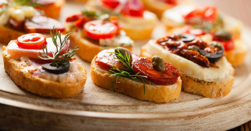 crostini catered snacks