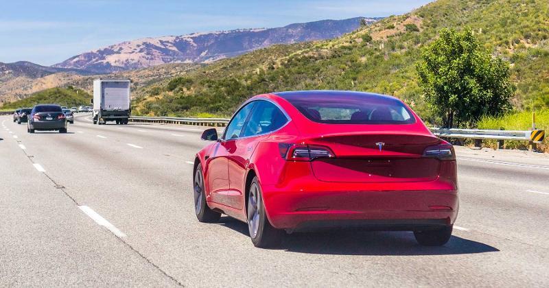 red car road