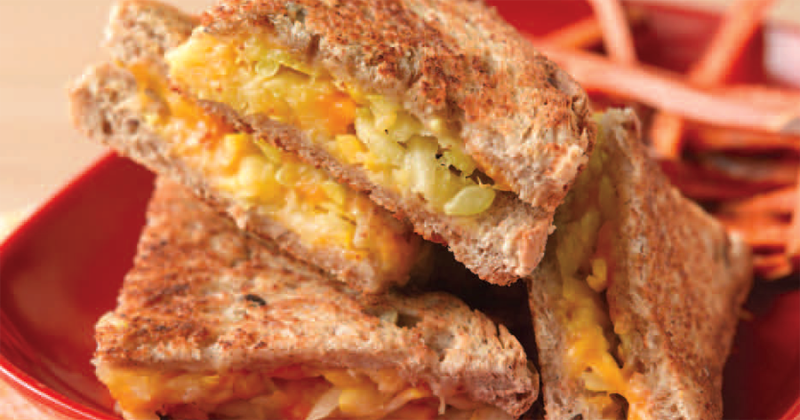 Grilled Cheese with Summer Squash