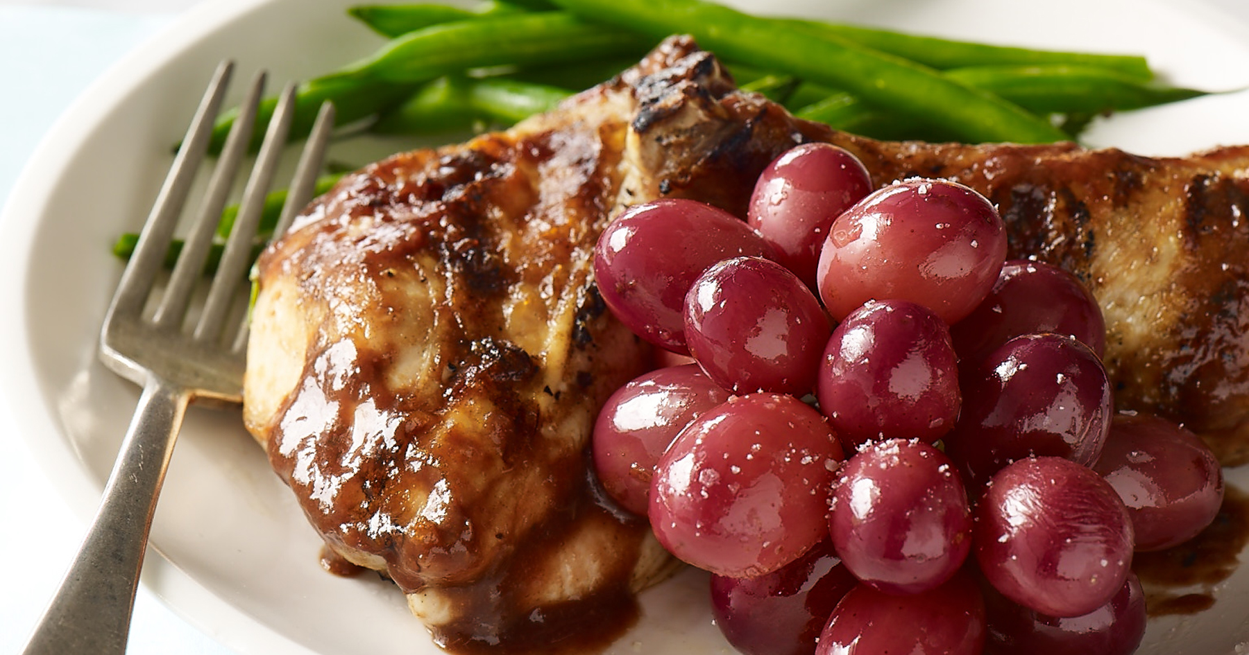 Grilled Chicken With Red Grape-Tamarind Barbecue Sauce
