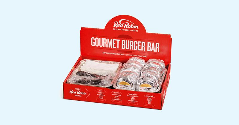 Red Robin box of food