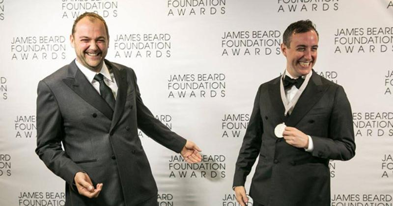 Daniel and will of Eleven Madison park at the James Beard awards