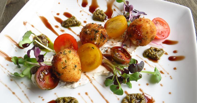 Crispy Mozzarella & Summer Tomato Salad