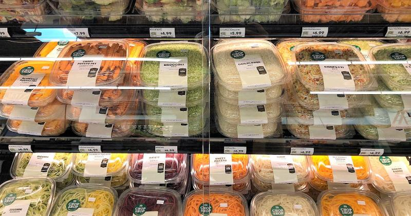 Value-added produce at Whole Foods