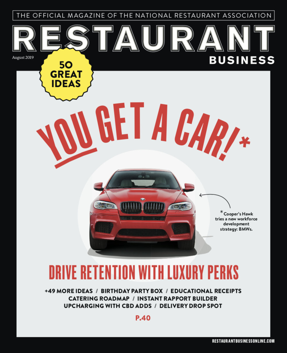 Restaurant Business Magazine August 2019 Issue