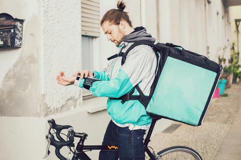 food delivery bike