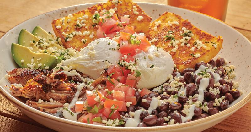 Cornbread Carnitas Bowl