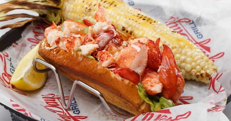 Lobster Roll with Grilled Corn