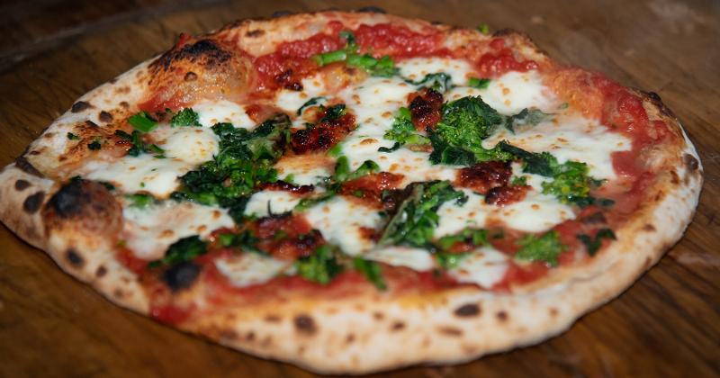 Broccoli Rabe and 'Nduja Pizza