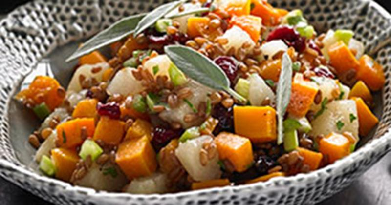 Pear, Squash and Wheat Berry Salad