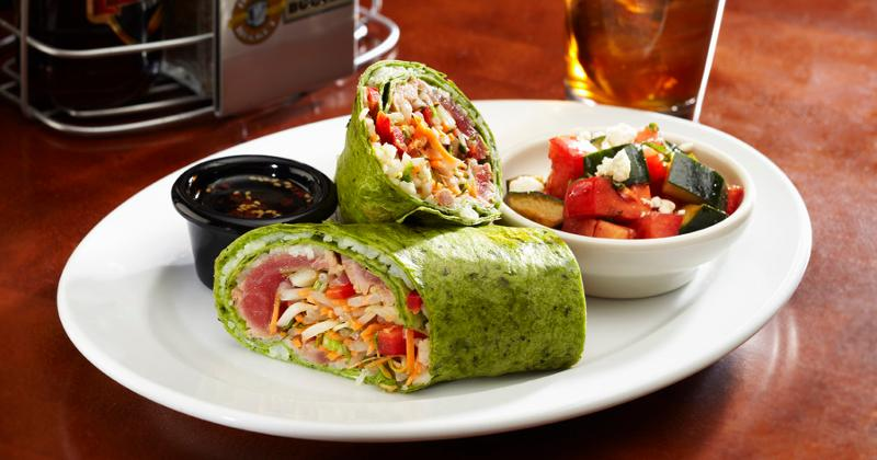 asian tuna wrap