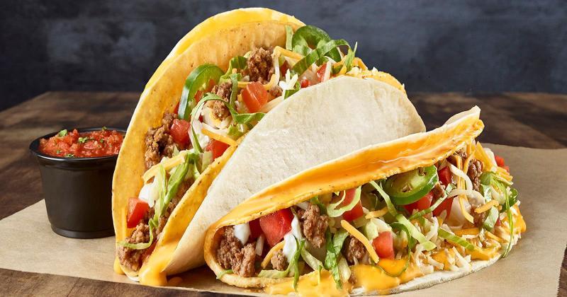 Double Stack Cheesy Tacos