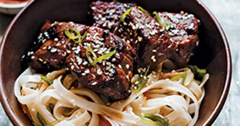 Asian Grilled Tri-Tip with Noodles