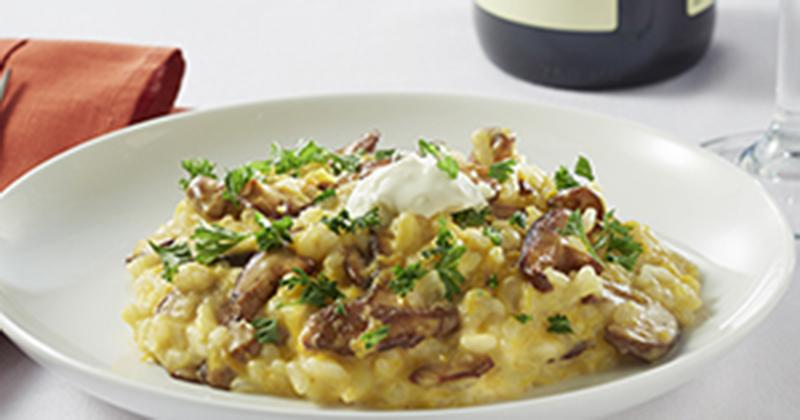 Butternut Squash, Mushroom and Mascarpone Risotto