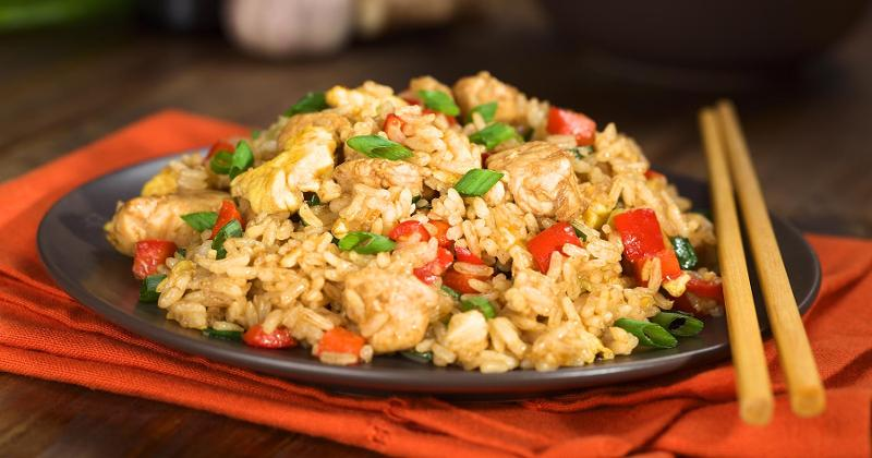 Fried Rice With Asian Chicken