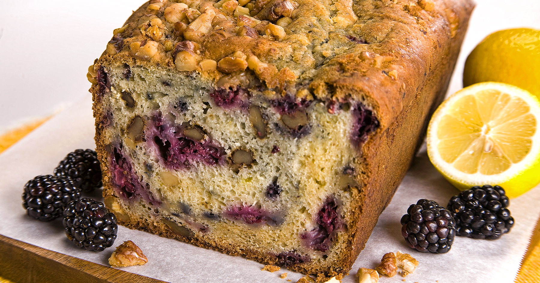 Walnut Blackberry Quick Bread