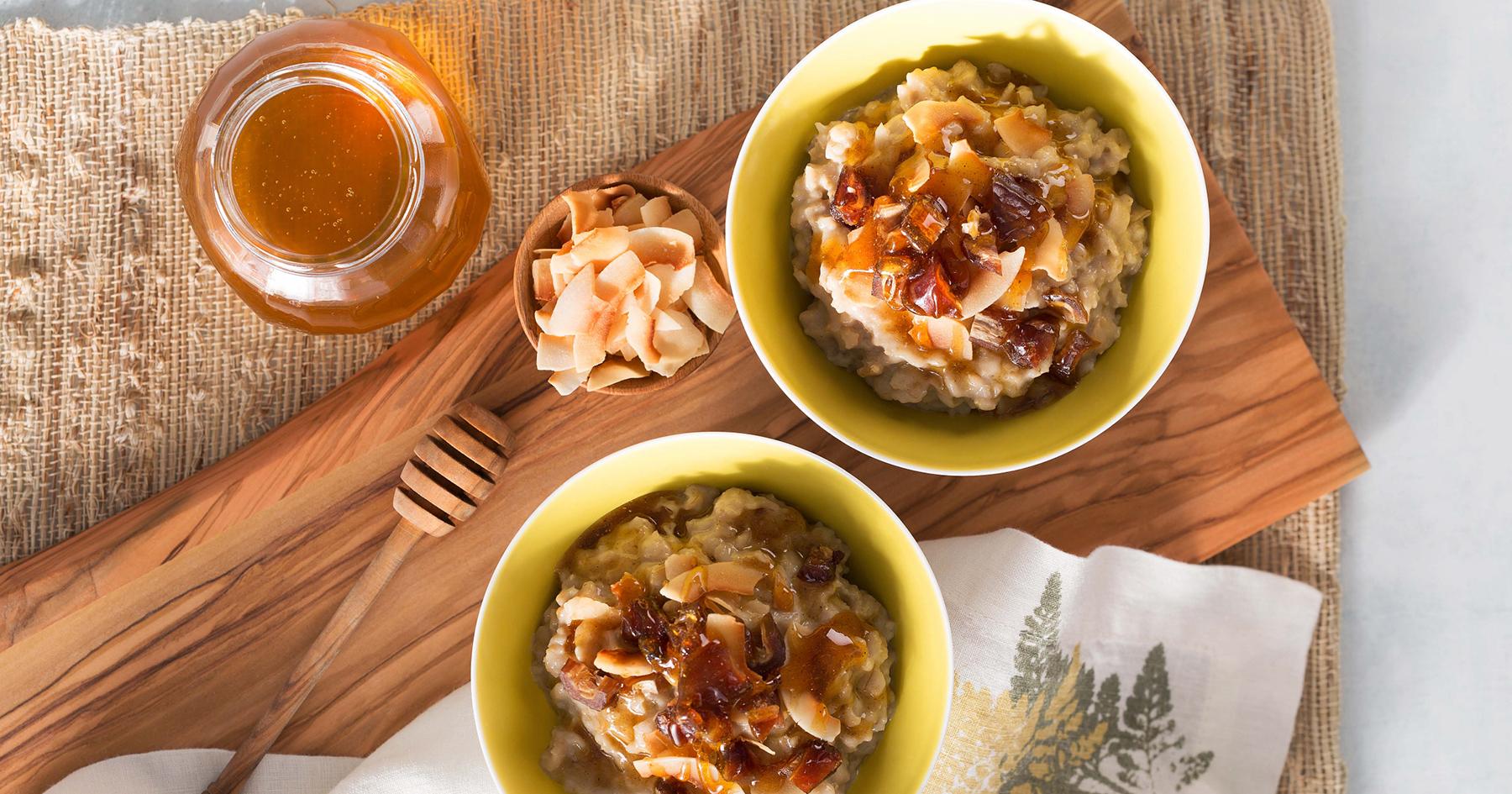 Coconut Porridge With Curried Honey