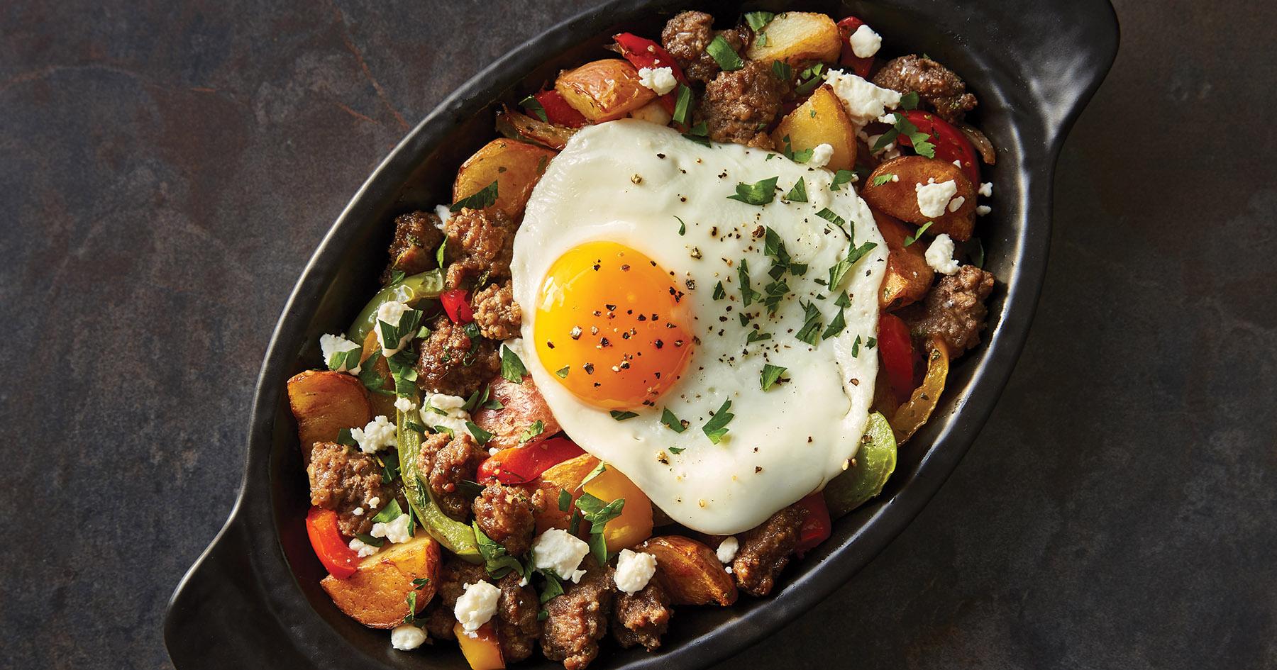 Greek Lamb and Potato Hash