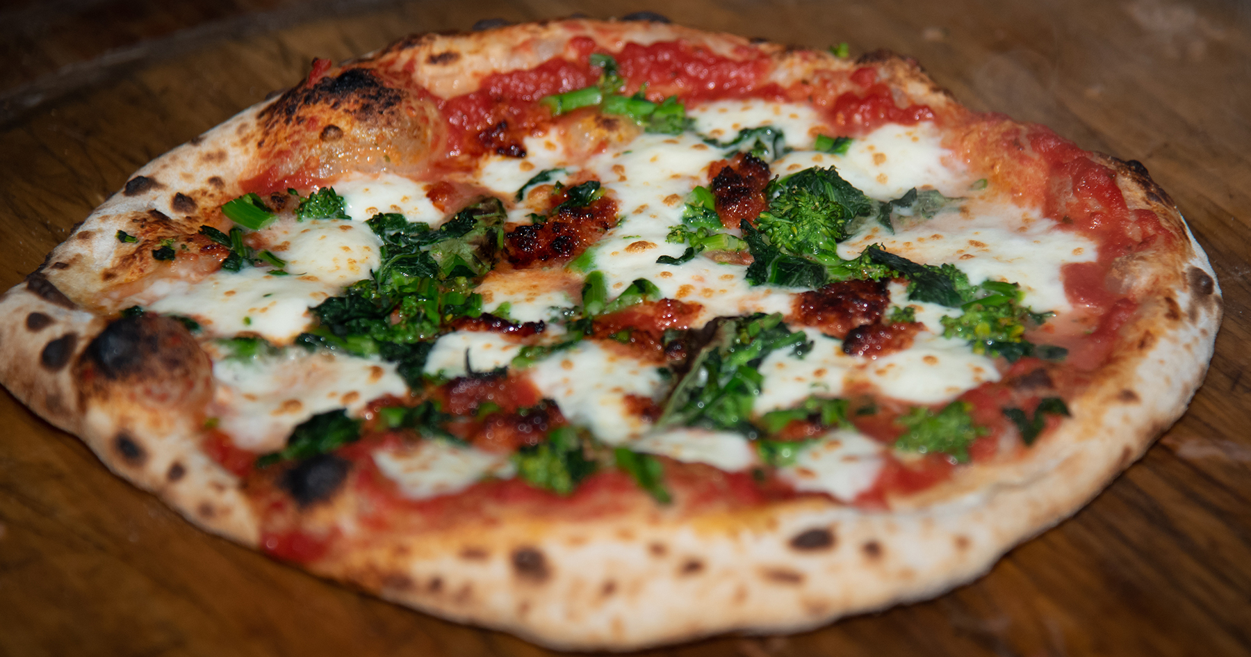 Broccoli Rabe and 'Nduja Pizza