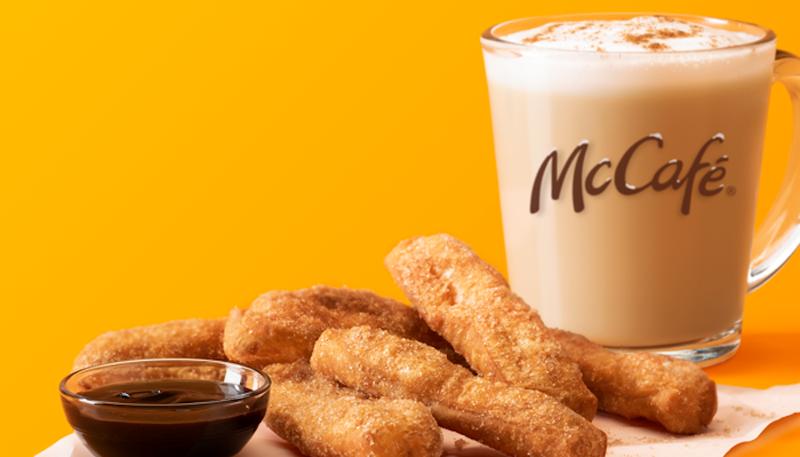 McDonald's donut sticks mccafe drink