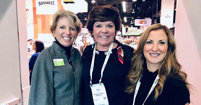 PMA CEO Cathy Burns with Meg Major and Jennifer Strailey