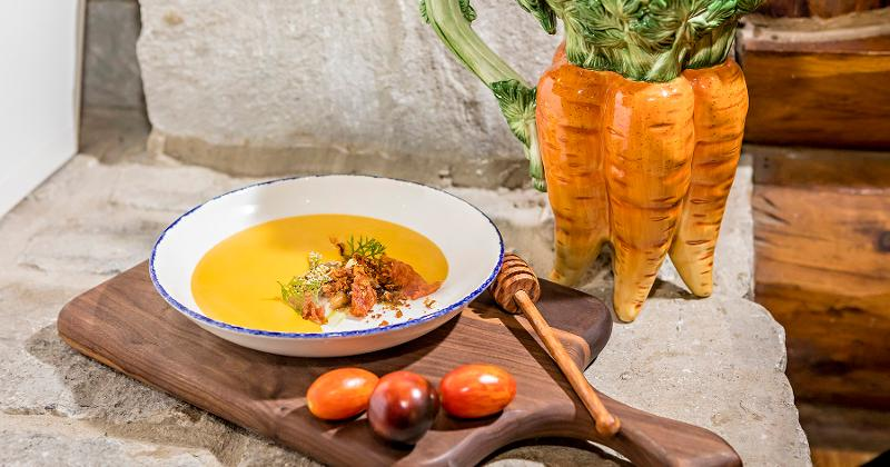 Carrot Soup With Honeycomb Candy