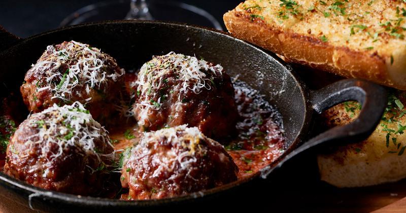 Cheesy Dry-Aged Meatballs