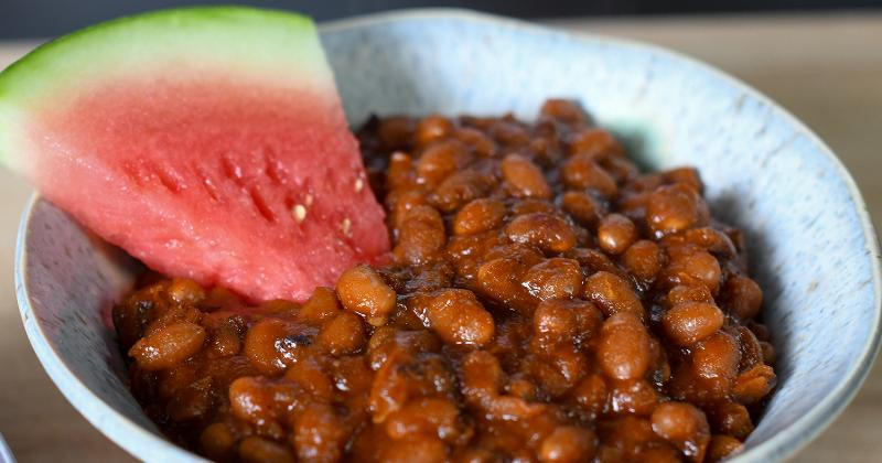 Baked Beans With Watermelon BBQ Sauce