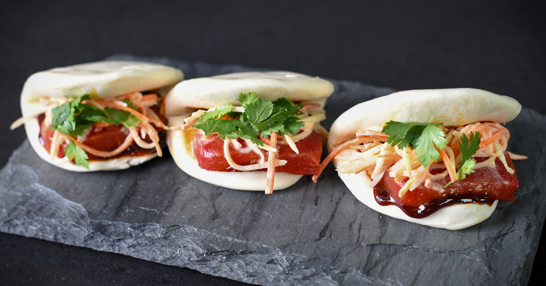 Tea Smoked Watermelon Bao with Pickled Watermelon Rind Slaw