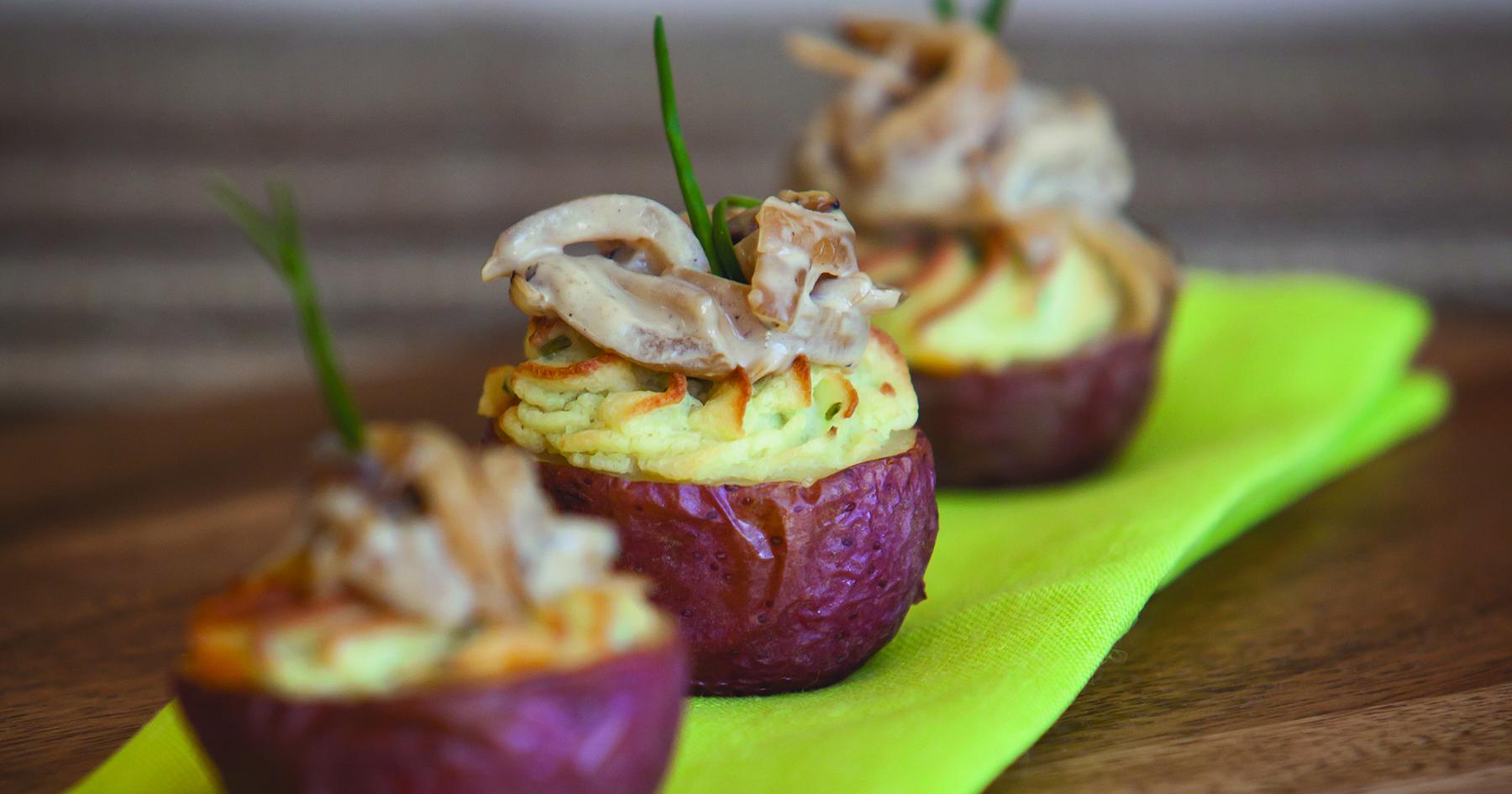 Caramelized Onion Stuffed Potatoes