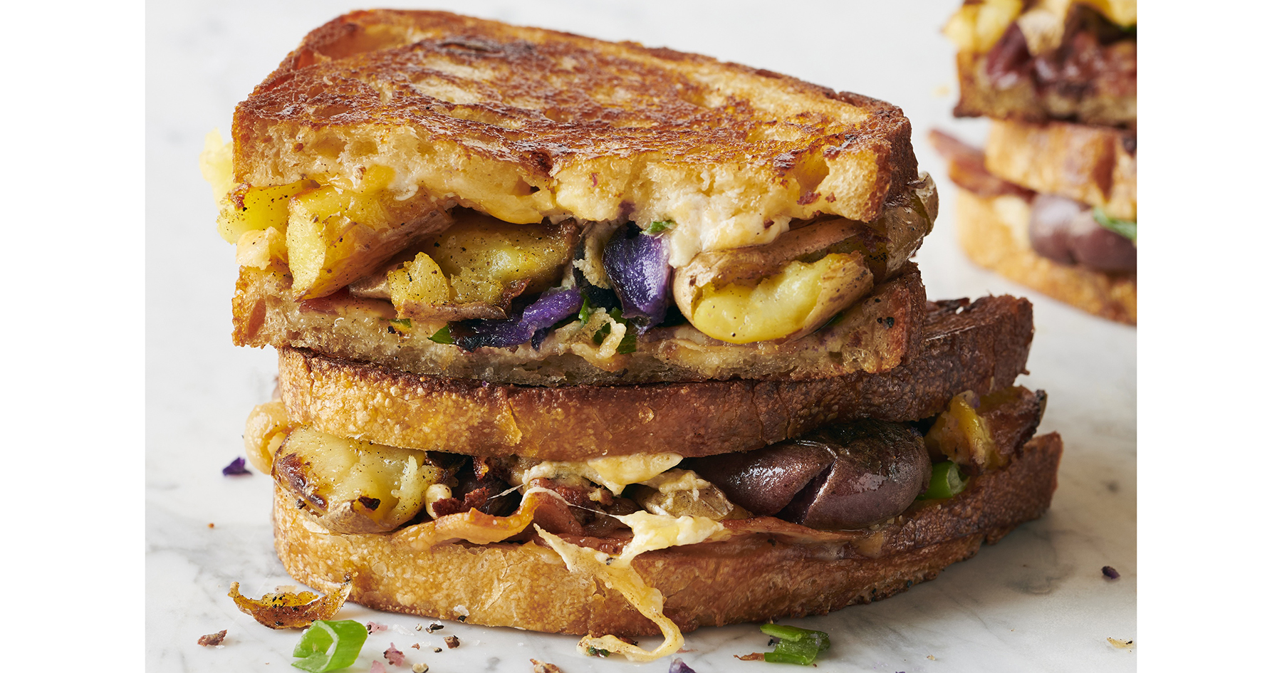 potato grilled cheese