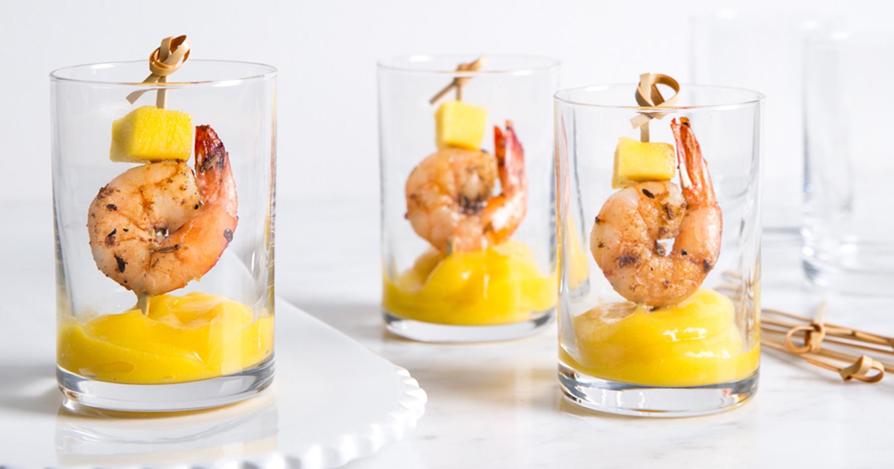Shrimp and Mango Shooters