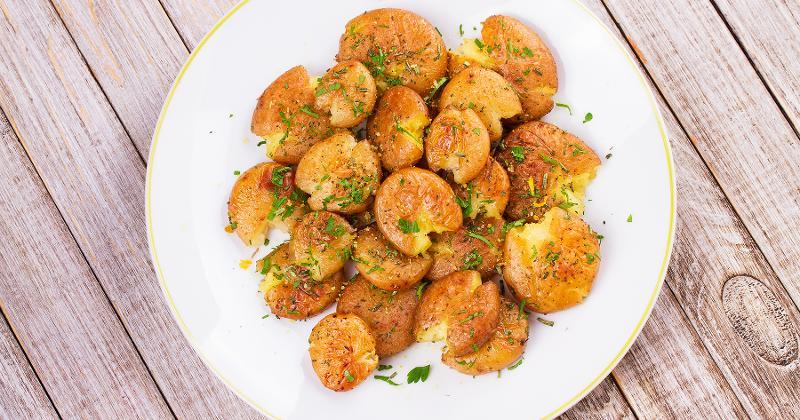Fried Smashed Potato