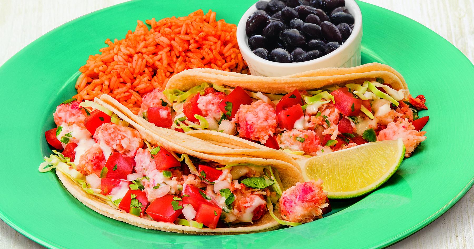 Taco Del Mar's lobster LTO