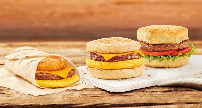 Tim Horton's breakfast sandwiches with beyond meat