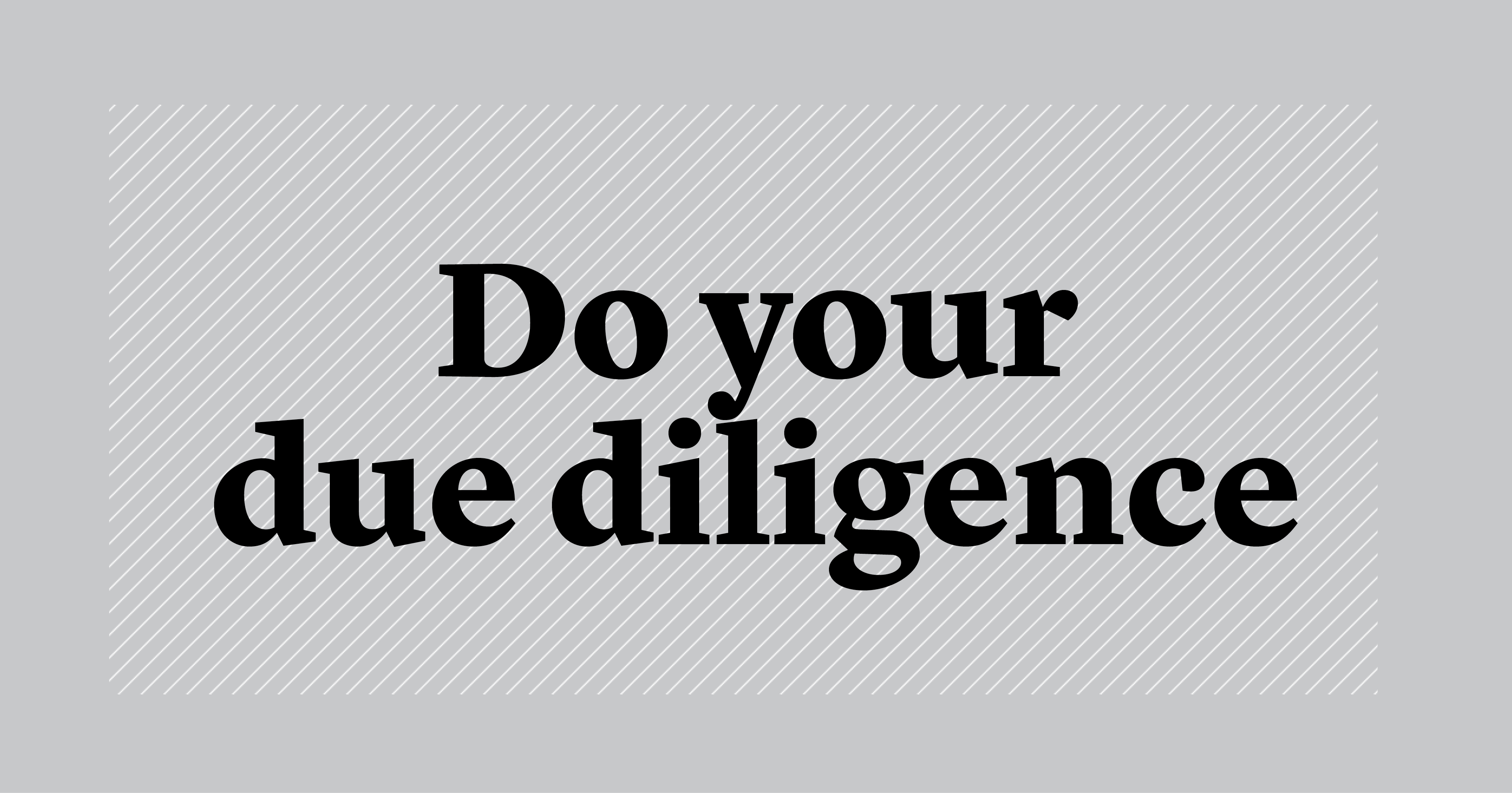 do your die diligence