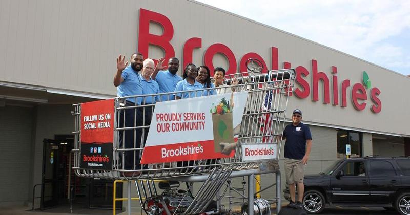 brookshire's big grocery cart