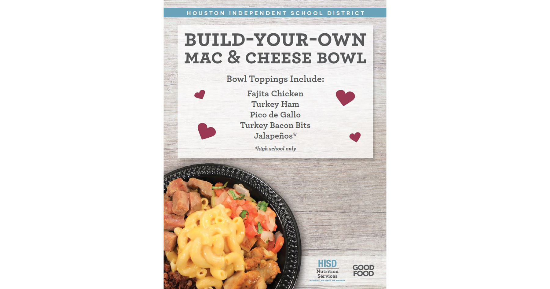 build your own mac and cheese bowl