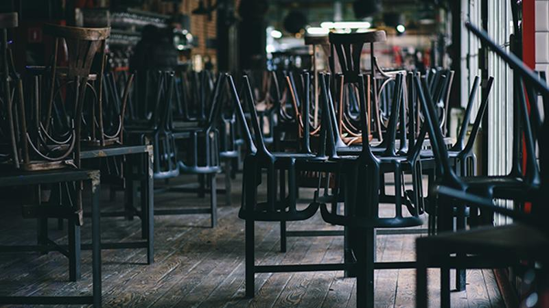 closed restaurant chairs