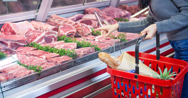 meat sales counter