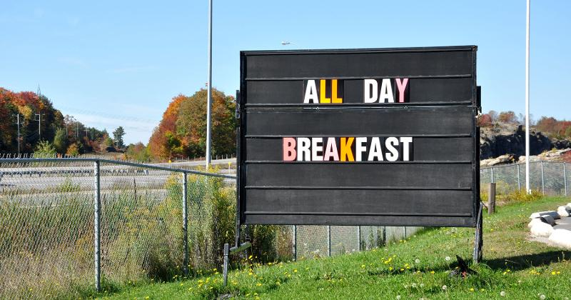 All-day breakfast sign