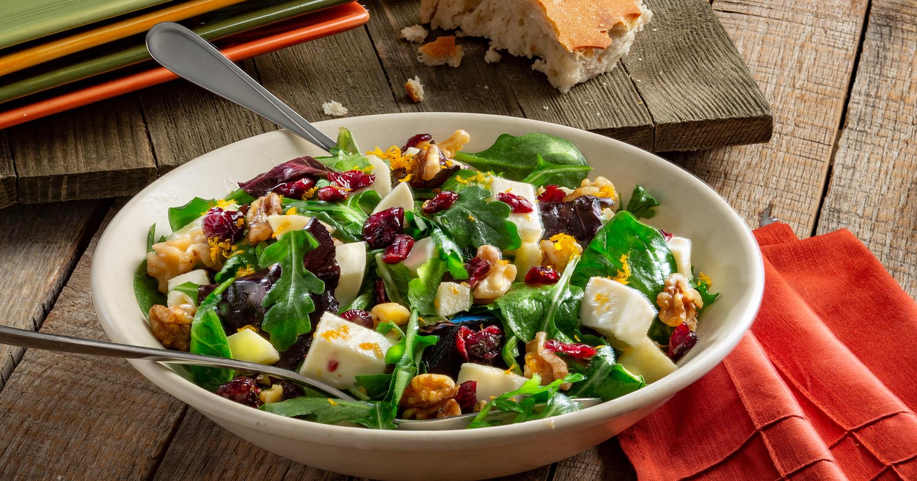 Panzanella Salad with Ciliegine Mozzarella and Truffle Dressing