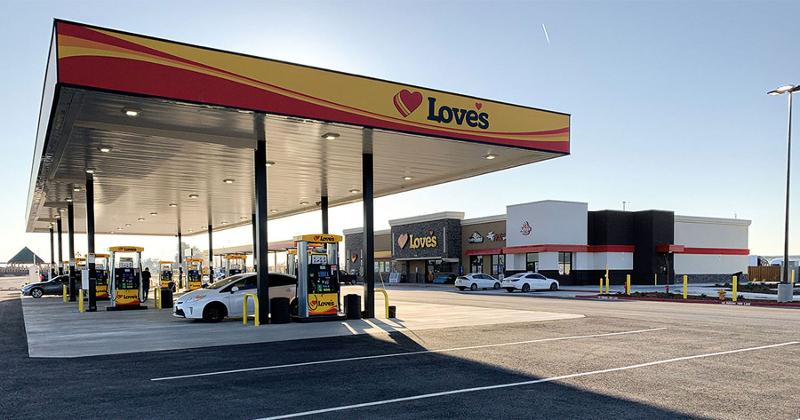 Love's gas station