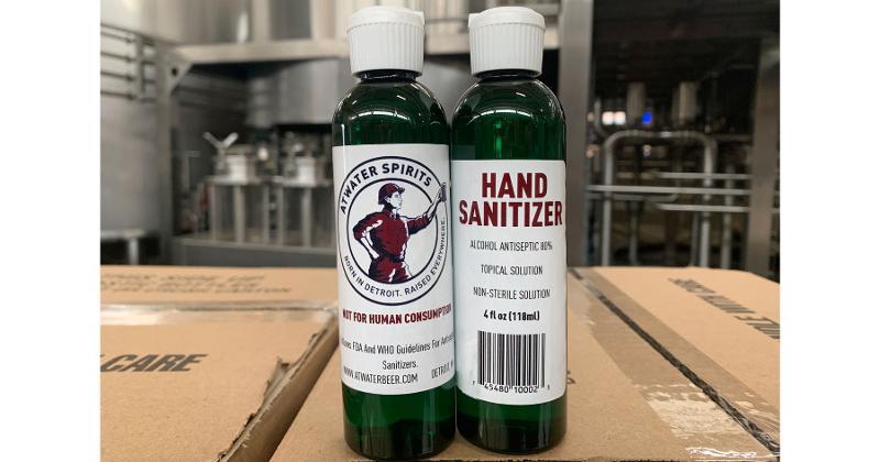hand sanitizer bottles