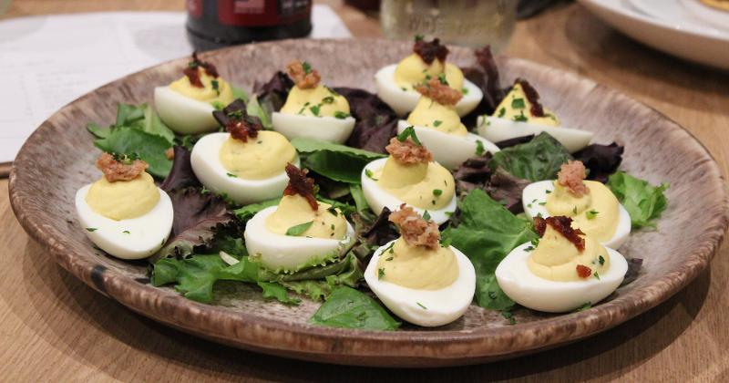 Deviled Eggs With Onion Jam