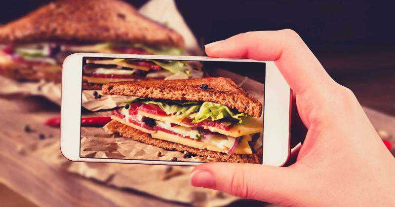 phone picture club sandwich