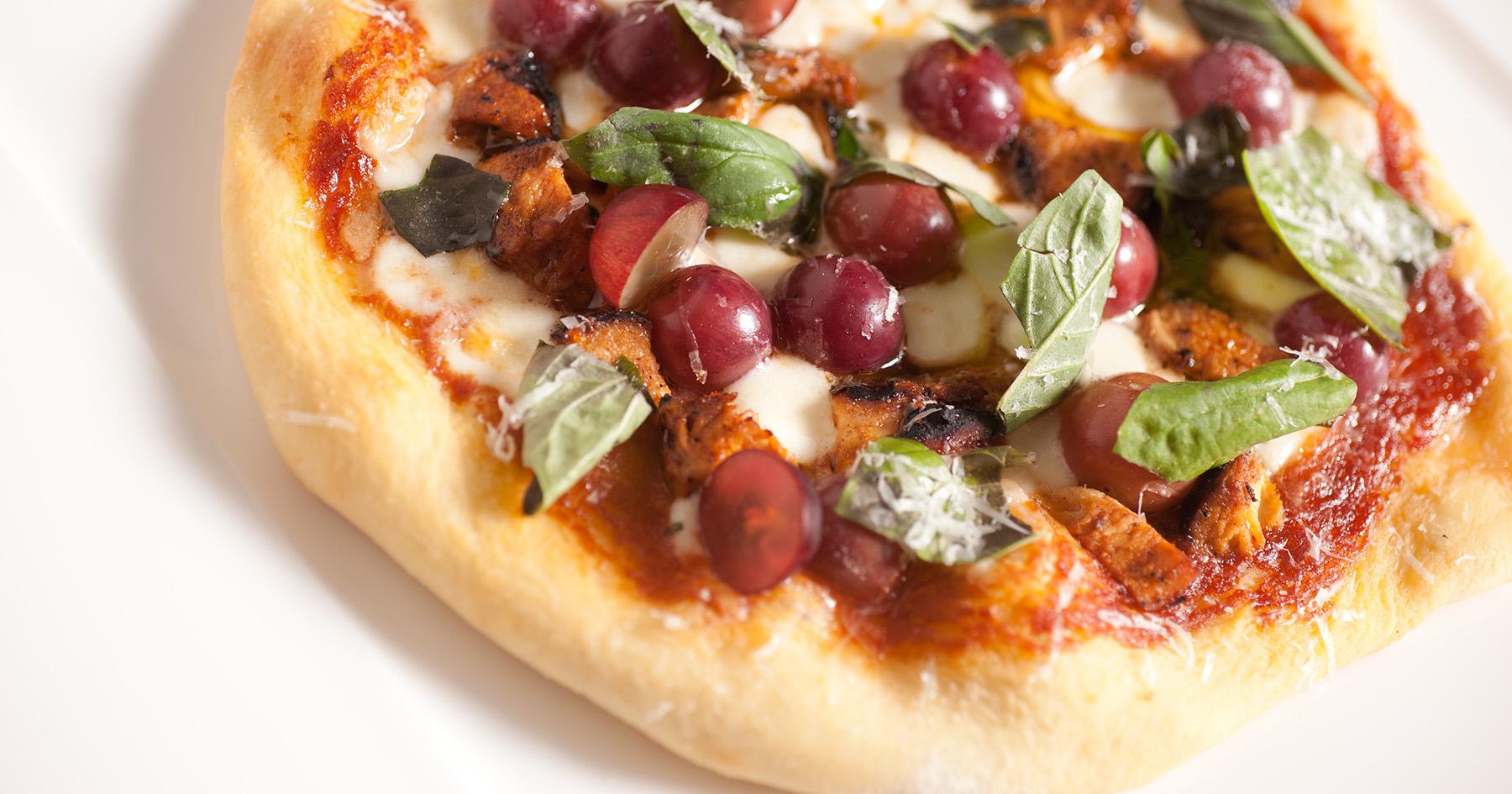 Barbecue Chicken and Grape Pizza