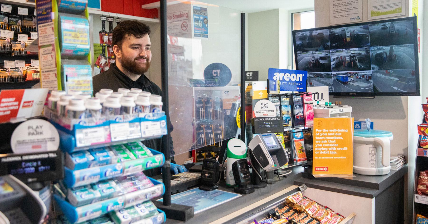 gas station register